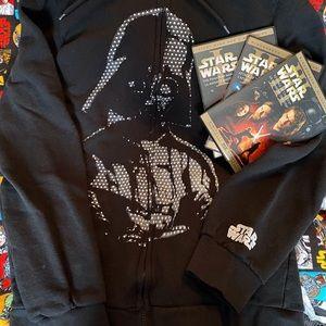 Darth Vader Zipper Hoodie NWOT